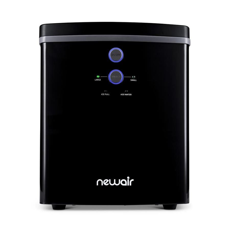 Newair 28 Lb Drop Down Portable Ice Maker Silver At Lowes Com