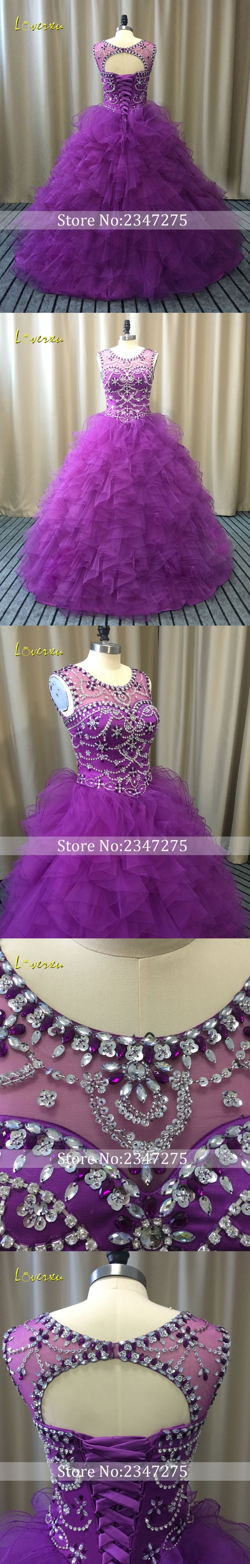 Loverxu scoop neck vintage ruffles ball gown quinceanera gown