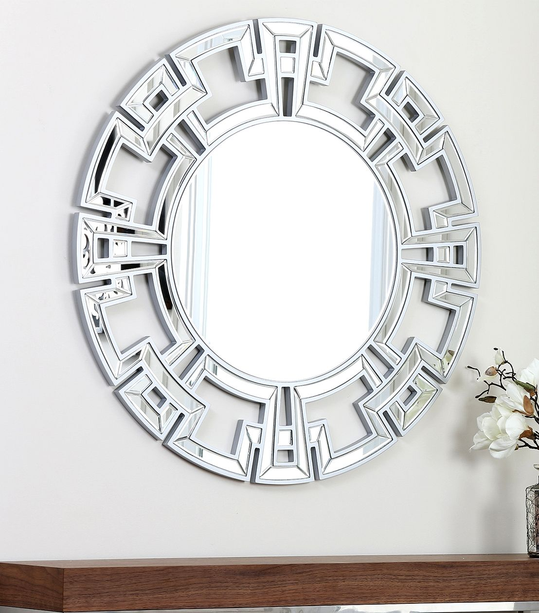 Pierre Silver Round Wall Mirror | http://drrw.us | Pinterest ...