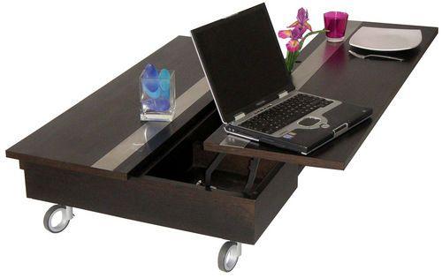 table ap ro dinatoire table basse roulettes noir. Black Bedroom Furniture Sets. Home Design Ideas