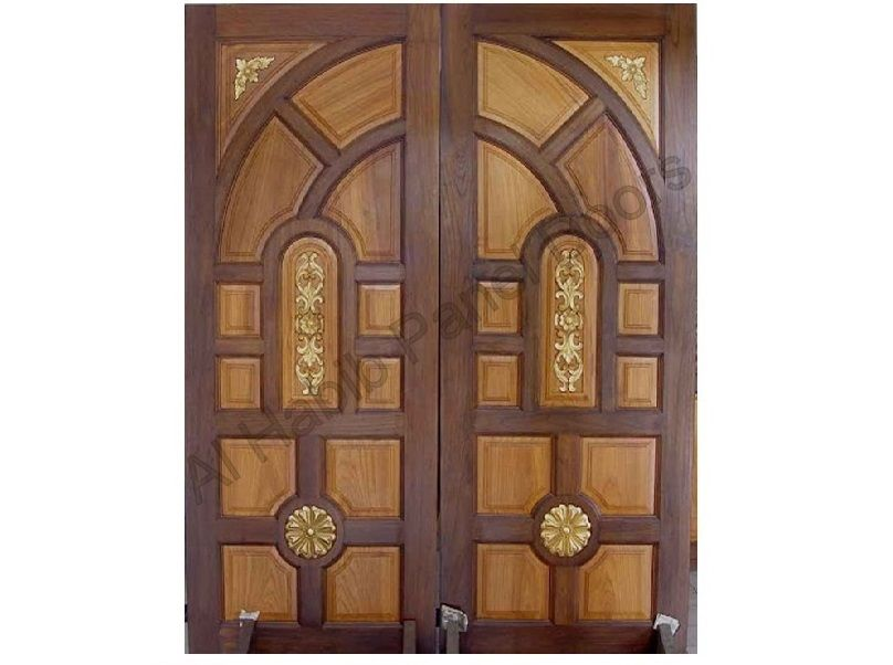Indian Style Carving Main Double Door Pid002 Main Doors Design