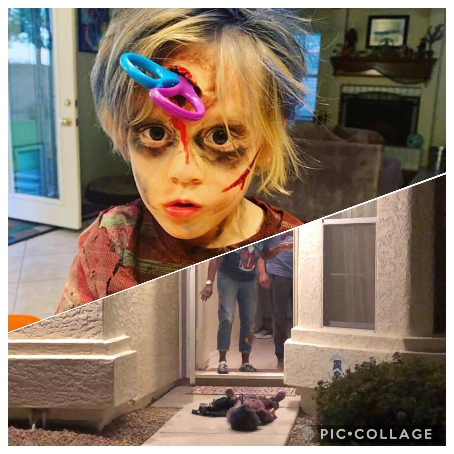 How my zombie trick or treated. in 2020 Funny pictures
