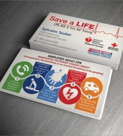 CPR Customizable Business Cards | My Custom Software