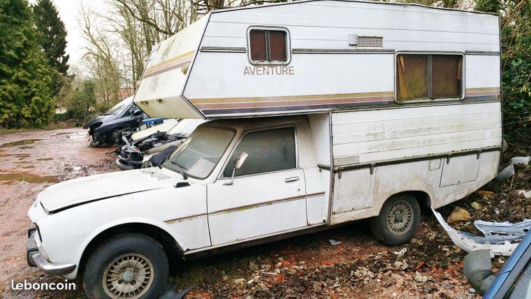 un camping car holidaycar 504 diesel avec carte grise a jour bien sur sans controle technique. Black Bedroom Furniture Sets. Home Design Ideas