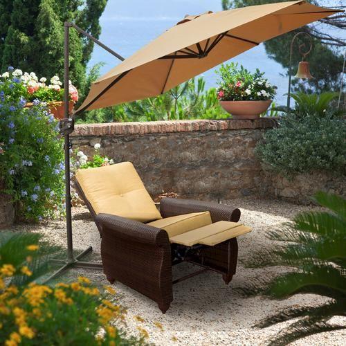 10 Offset Patio Umbrella at Menards  For the Home  Offset patio umbrella Patio Outdoor decor