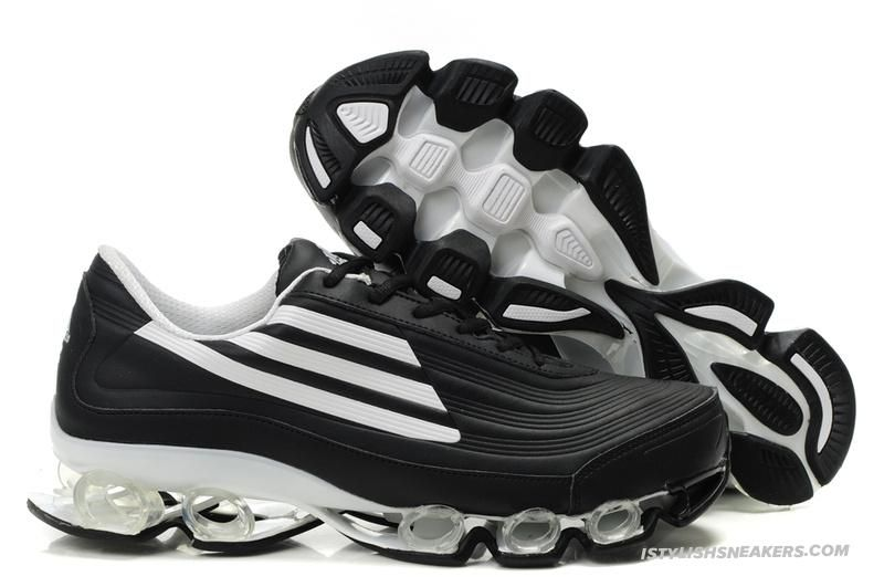 9d904323f Adidas Titan Bounce Black White Hypermotion Running Shoes
