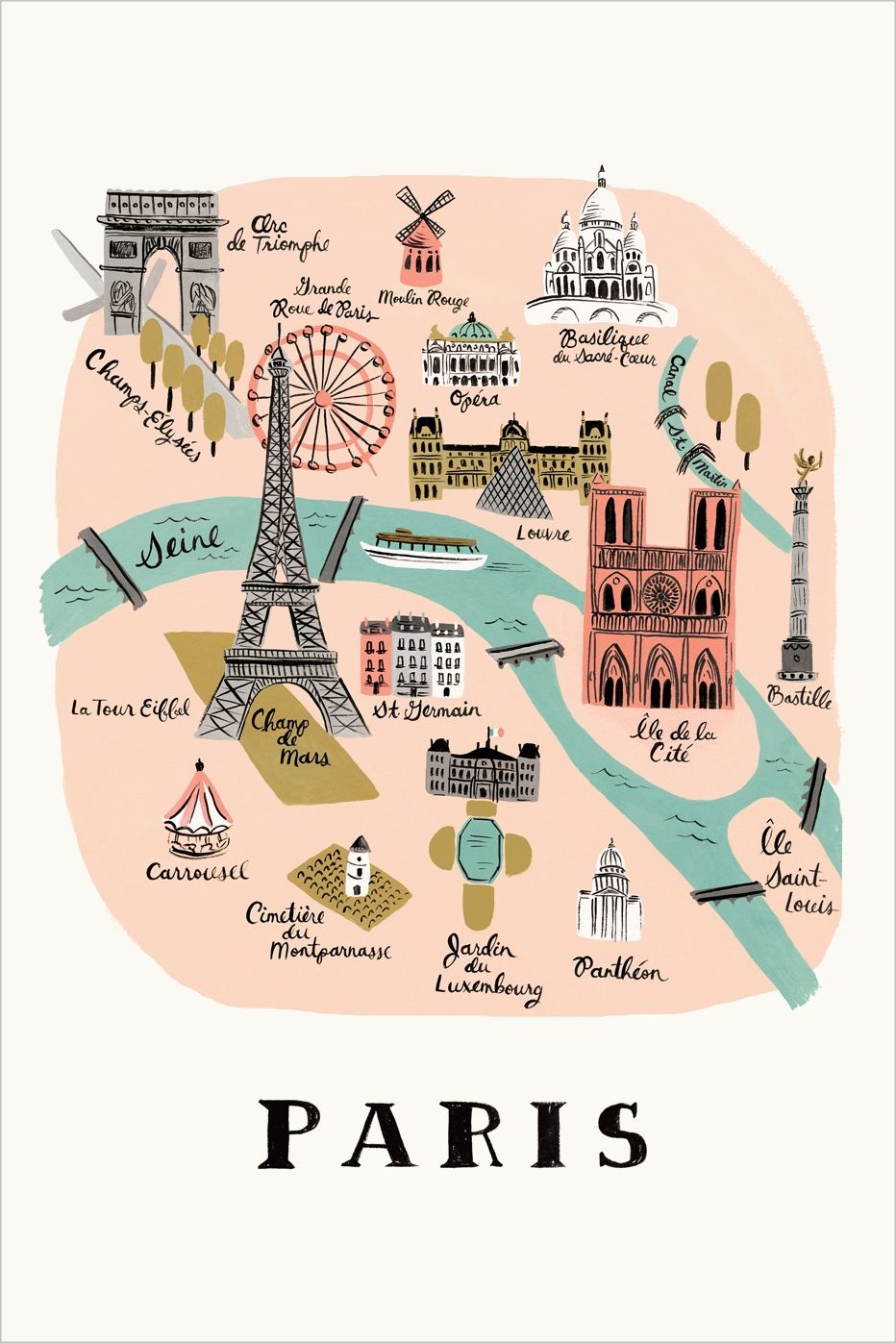 paris travel map