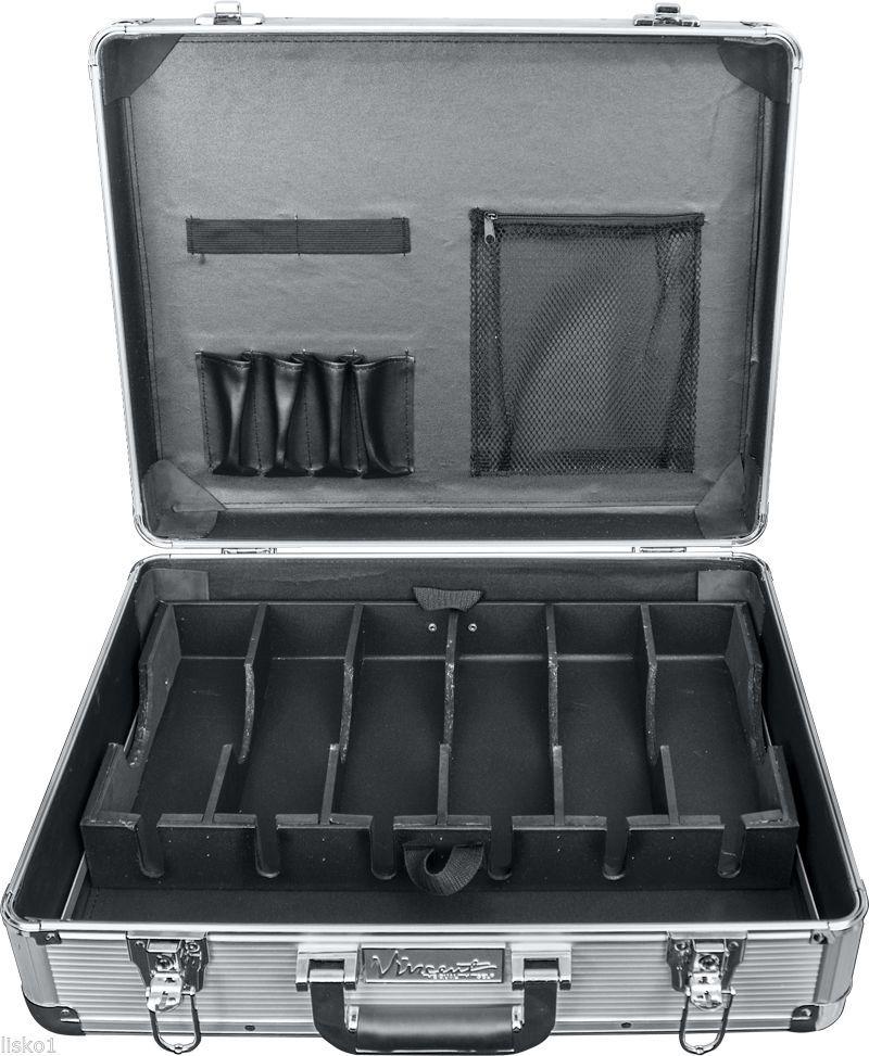Large Master Barber Clipper Trimmer Storage Travel Case Vt10142 Sv Silver Ebay