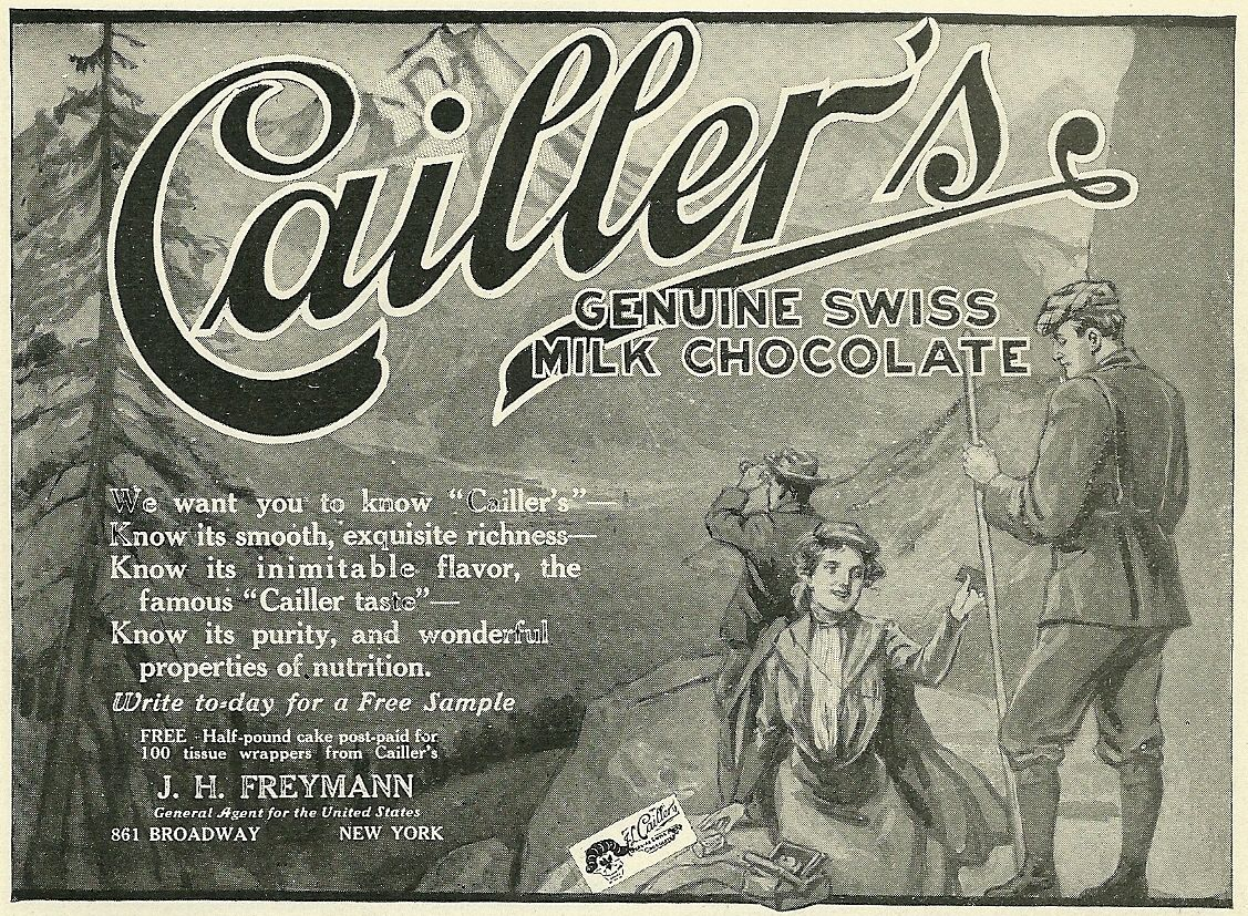 25 best VINTAGE CHOCOLATE CAILLER ADS images on Pinterest ...