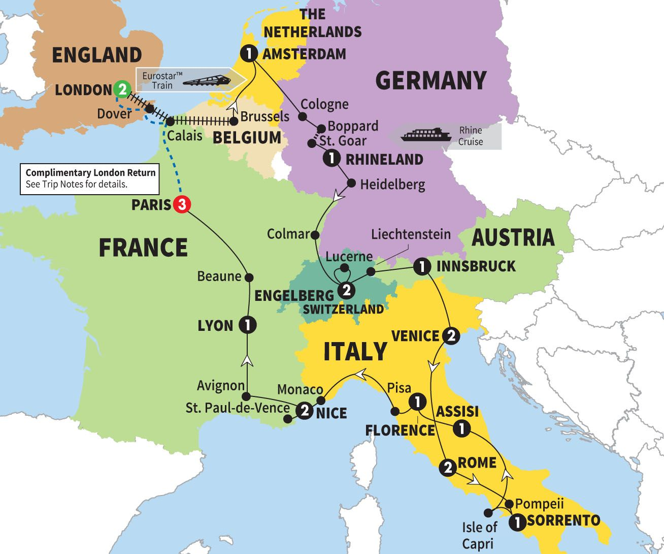Delve beneath the obvious in Italy, Germany, France and Austria on ...