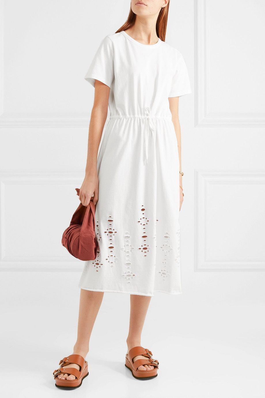 60a90b5c12 See By Chloé | Cutout cotton-jersey midi dress | NET-A-PORTER.COM ...