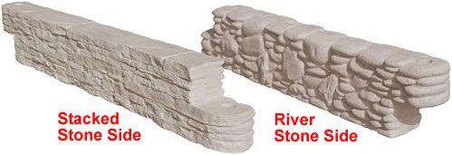 Plastic borders, plastic timbers, landscape timbers - rock finish 42