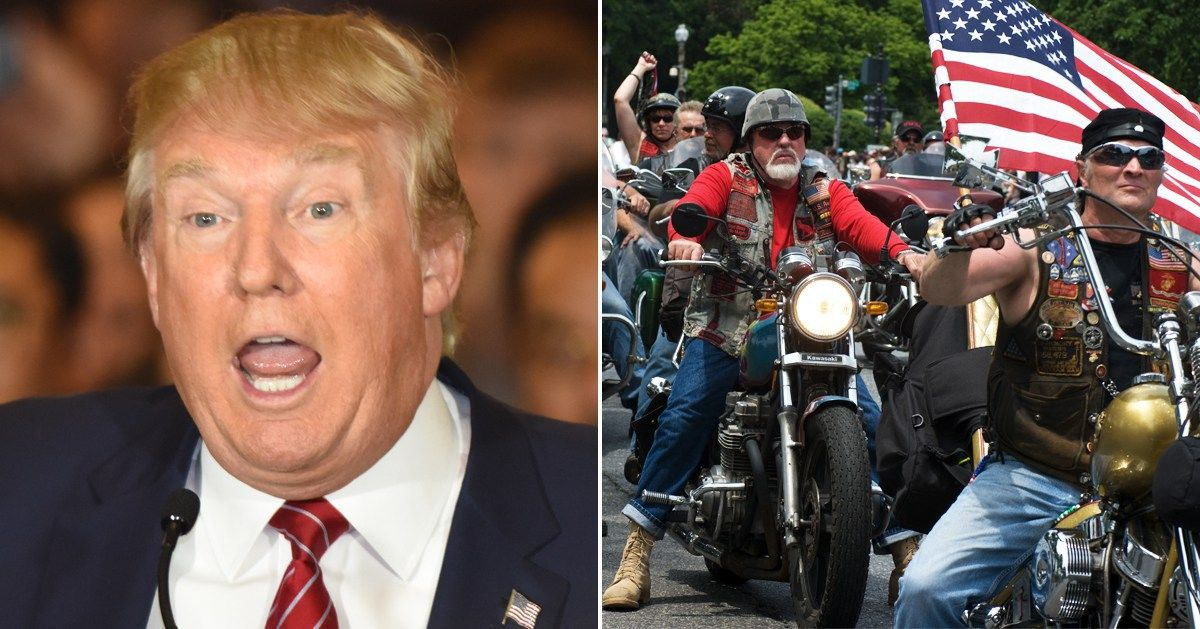 Picture from Bikers for Trump is blowing up!