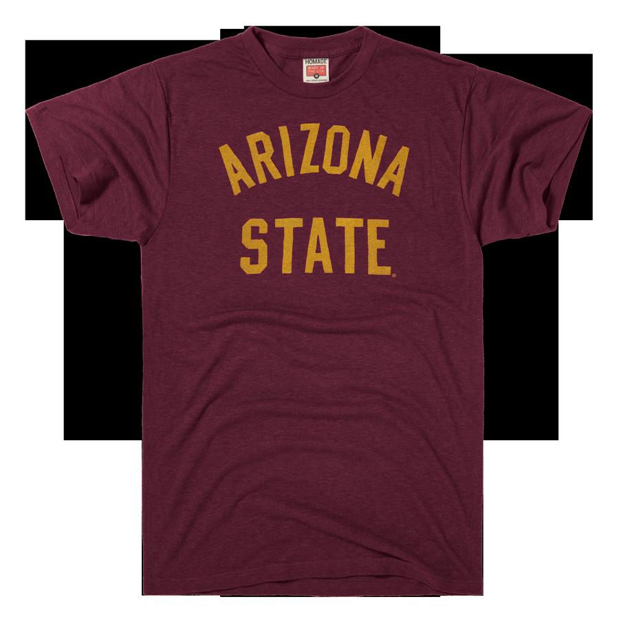 HOMAGE Arizona State Old Maroon ASU College TShirt