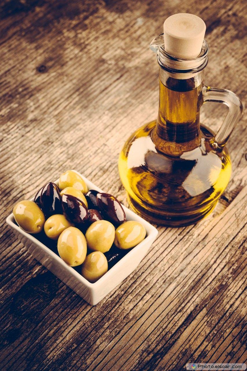 Fresh Olives And Olive Oil Infused olive oil, Olive oil