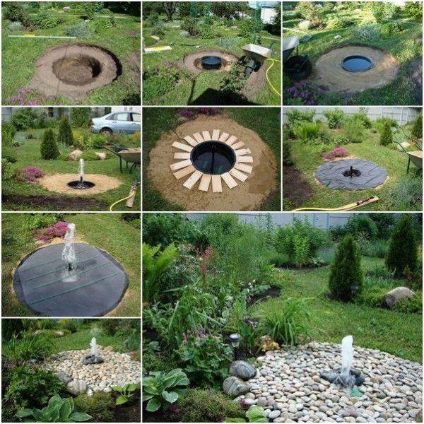 DIY Garden Fountain Ideas | Ogrodnictwo | Pinterest | Garden ...