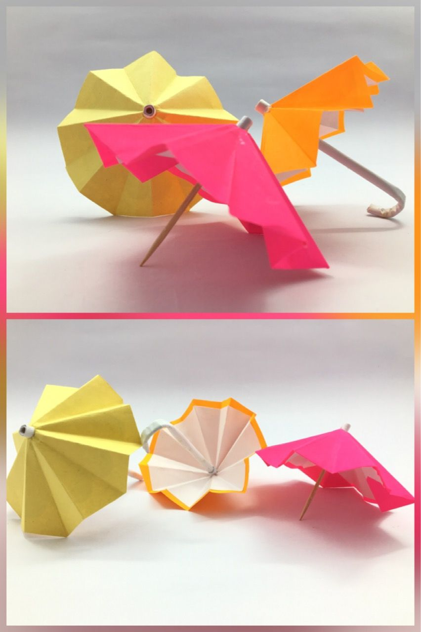 Easily Make Paper Umbrella At Home By Following Simple Steps Art