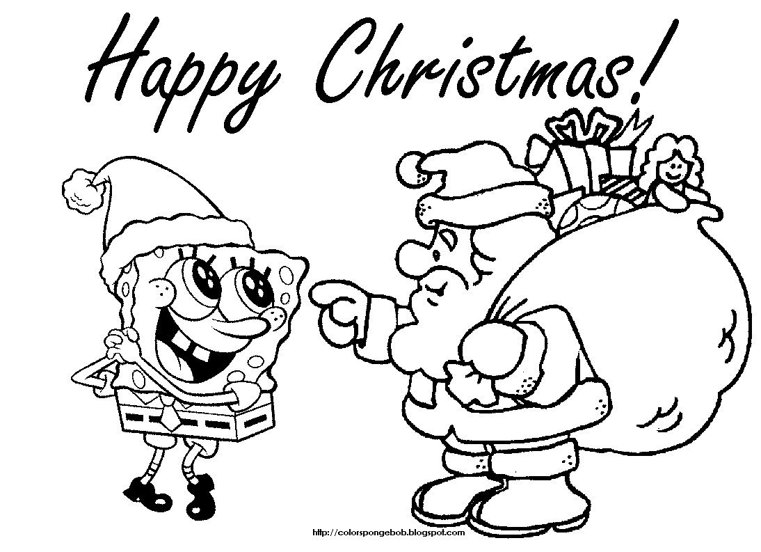 Spongebob Santa Coloring Pages From The Thousands Of