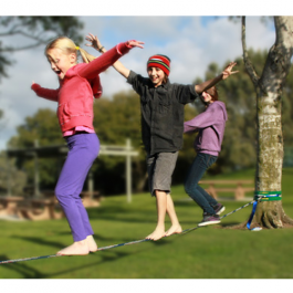 Fun Line Slackline. Great beginner slackline for kids as young as five.