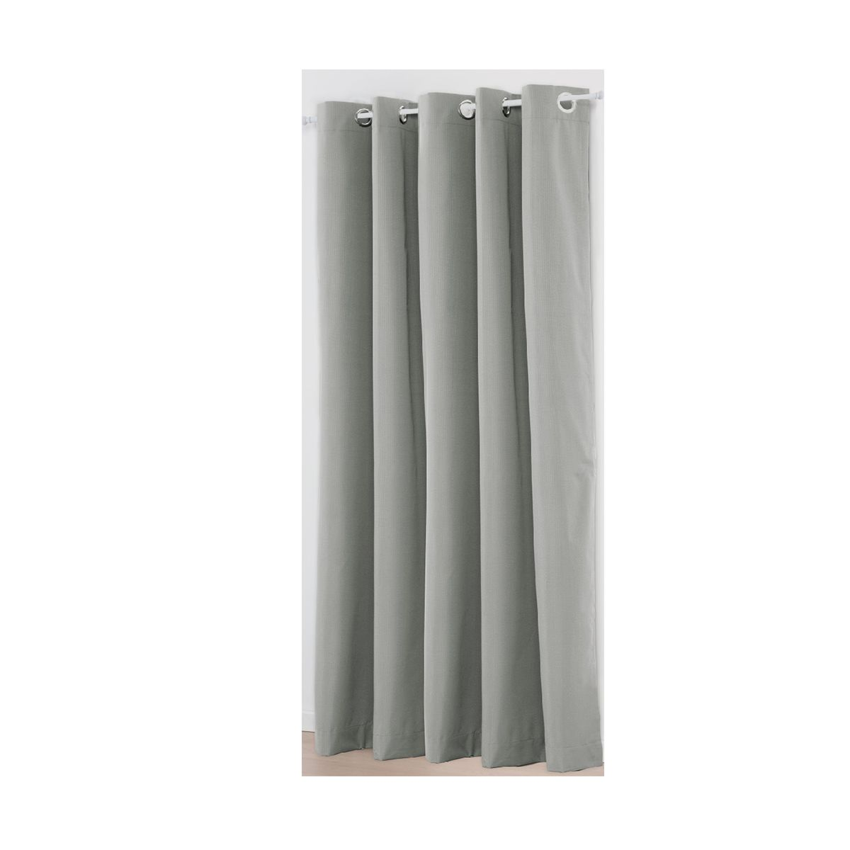Grey Paris Double Width Eyelet Curtain