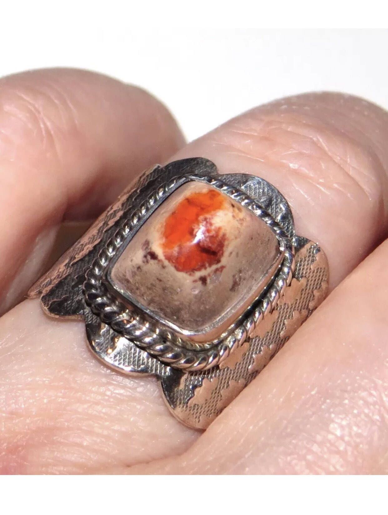 Opal ring , Mexican Fire Opal Ring , Fire Opal ,Beautiful