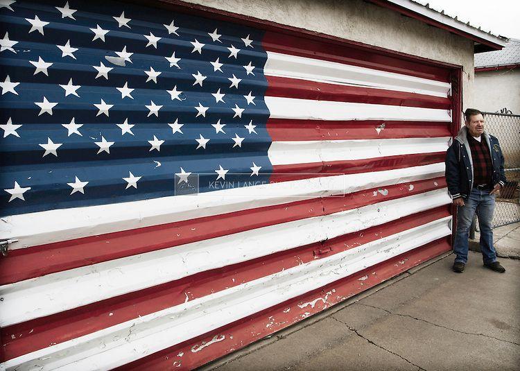 old american flag on door & old american flag on door | Americana | Pinterest | Barn doors Barn ...