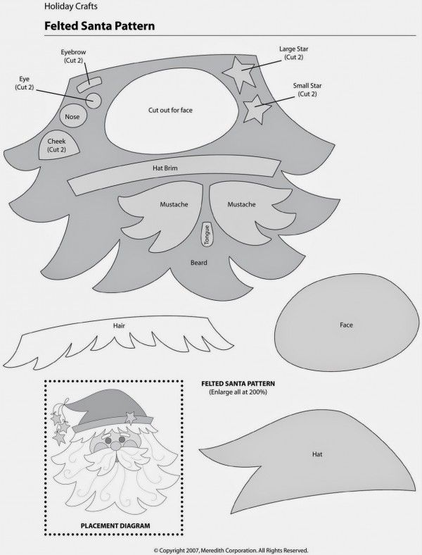Santa Claus Patrones de Costura e Ideas | Sewing patterns, Santa and ...