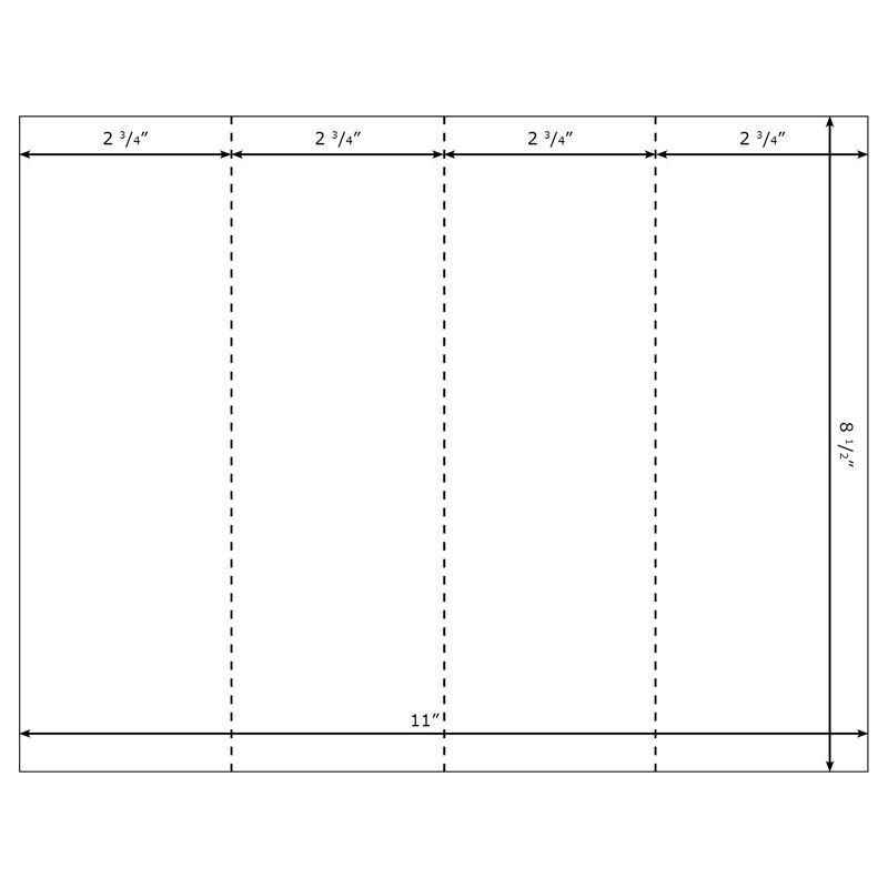 Blank Printable Bookmark Templates for Microsoft Word Bookmarker - blank brochure
