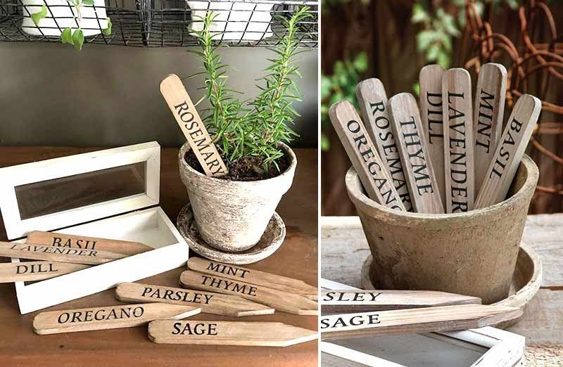Add Our Set Of 9 Wooden Herb Stakes In A Box To Your 400 x 300