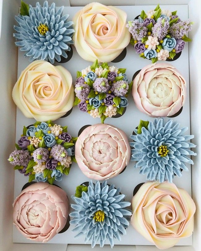 30 Most Adorable Kerrys Bouqcakes Wedding Cupcakes