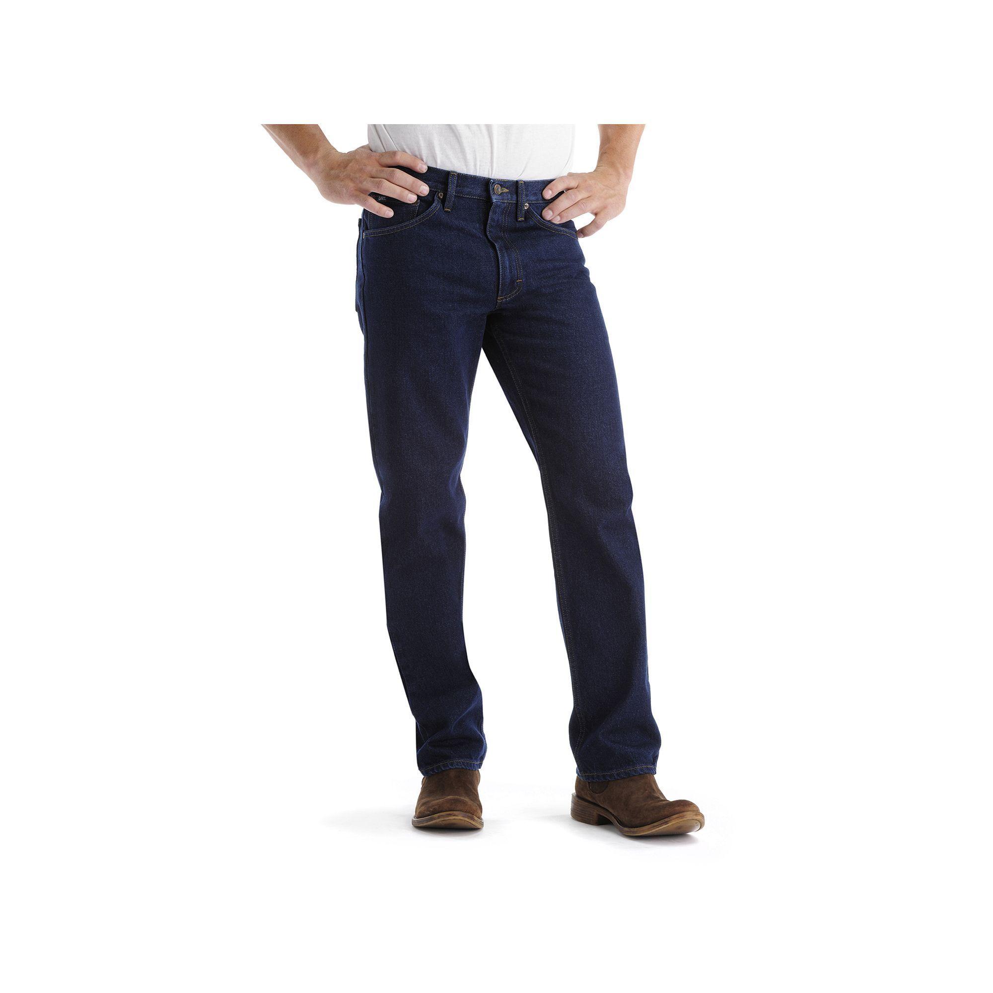 ef314d33 Big & Tall Lee Regular Straight-Leg Jeans, Men's, Size: 44X30, Blue ...