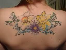 flowers | Tattoos, Aster tattoo, Narcissus tattoo