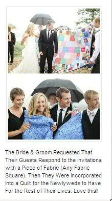 Photo of wedding quilt