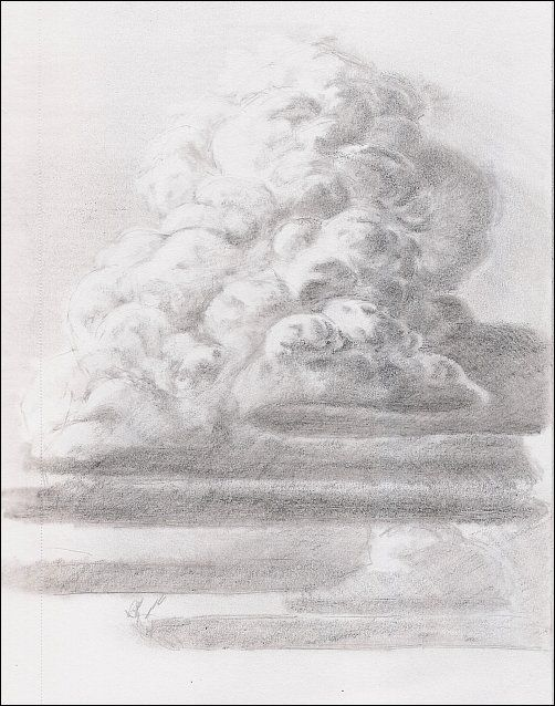 How To Draw Thunderhead Clouds Cloud Drawing Realistic Drawings
