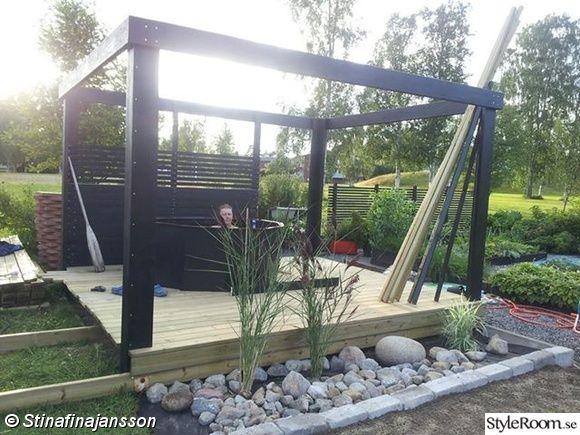 Uteplats uteplats tak : altan,trädäck,pergola,sittbänk,solsegel,rosenapel | Garden ...