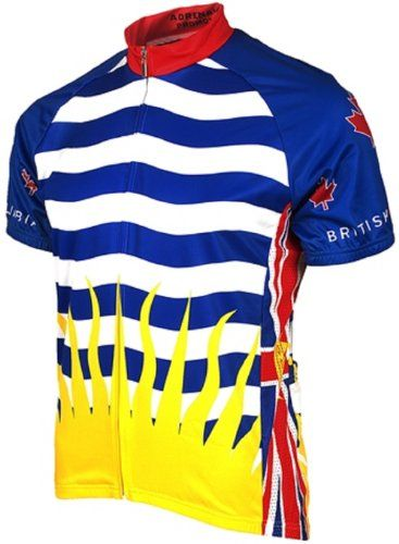 Adrenaline Promotions Canadian Provinces British Columbia Cycling Jersey  Multi Large -- Check out this great a8d66d4f4