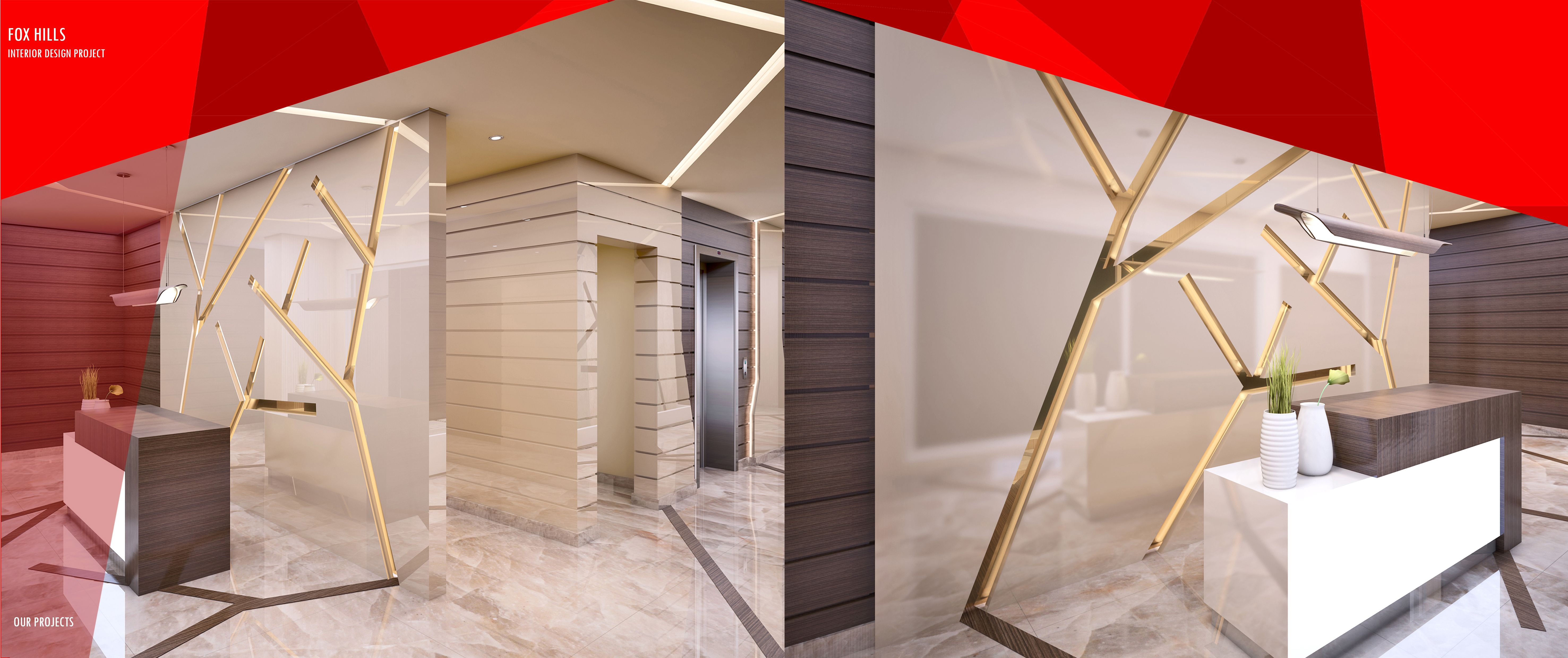 Modern Lobby Entrance For A Residential Building Della Casa Group Design Doha Qatar