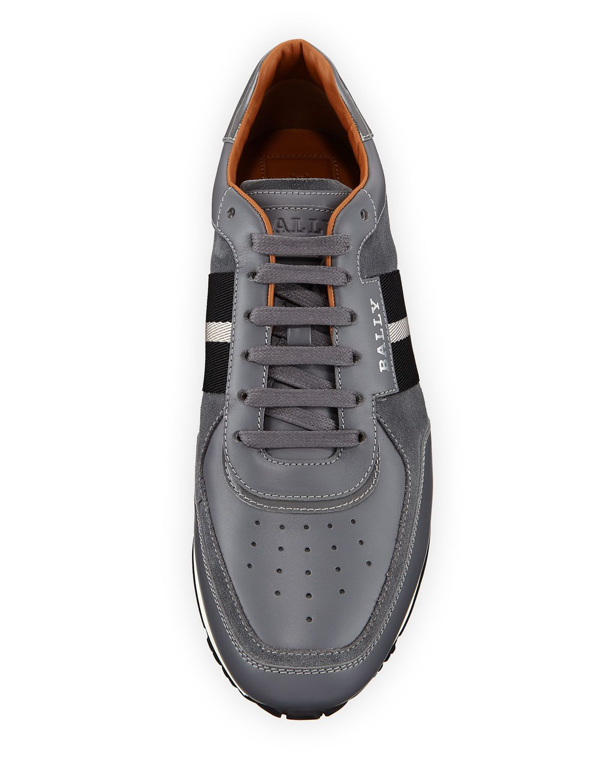 f802ed84cfdfbd Bally Men s Aston New5 Leather Sneakers w  Trainspotting Stripe