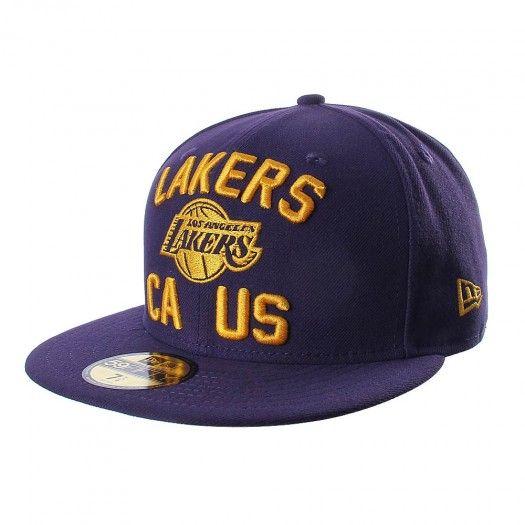 a3b0c7161d783 La gorra 5950 NBA Los Angeles Lakers de New Era está diseñada para que  apoyes a