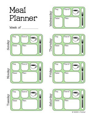 7 free printable weekly meal planners that will knock your socks off