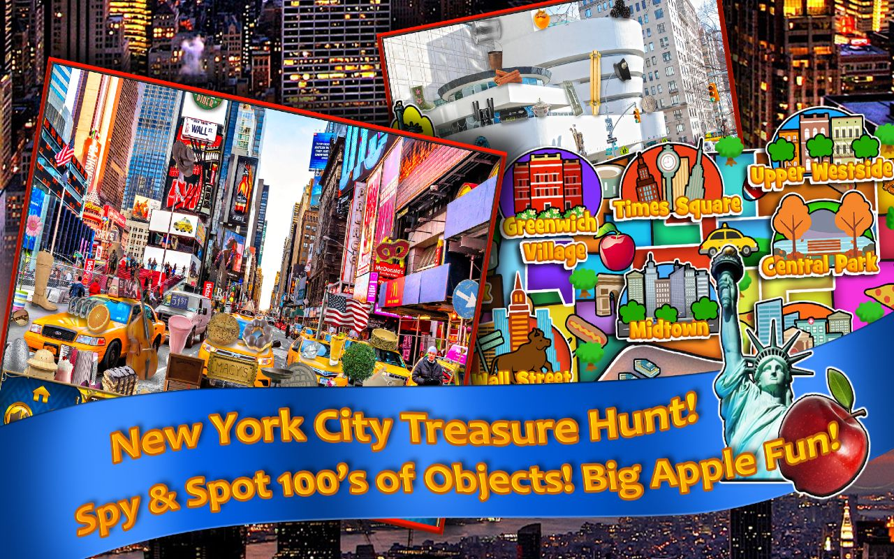 Hidden Objects New York City Seek and Find Object Puzzle