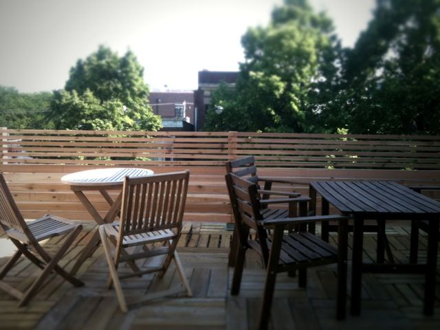 Our pride  joy A large private outdoor rooftop deck This is our 1