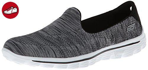 Skechers GO Walk 2 Hypo, Damen Sneakers, Schwarz (BKW), 35 EU