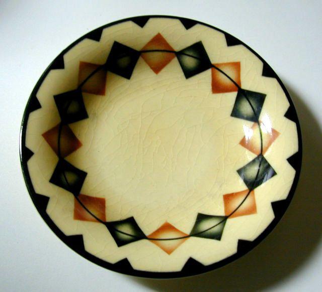 Paul & Sohn brand | Vintage porcelain stoneware plate | Spritzdekor