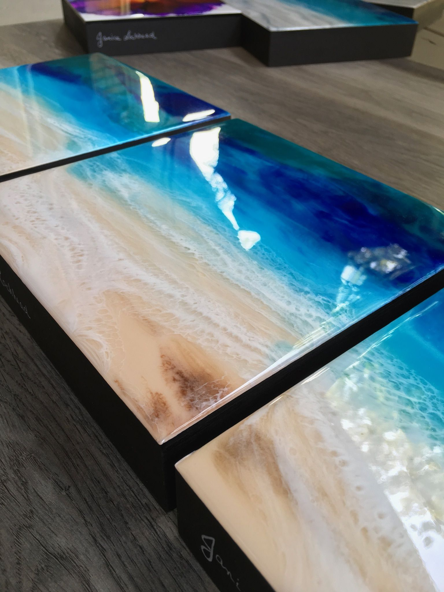 Pin by Denise Dempsey on art: acrylics  in 2019   Epoxy resin art