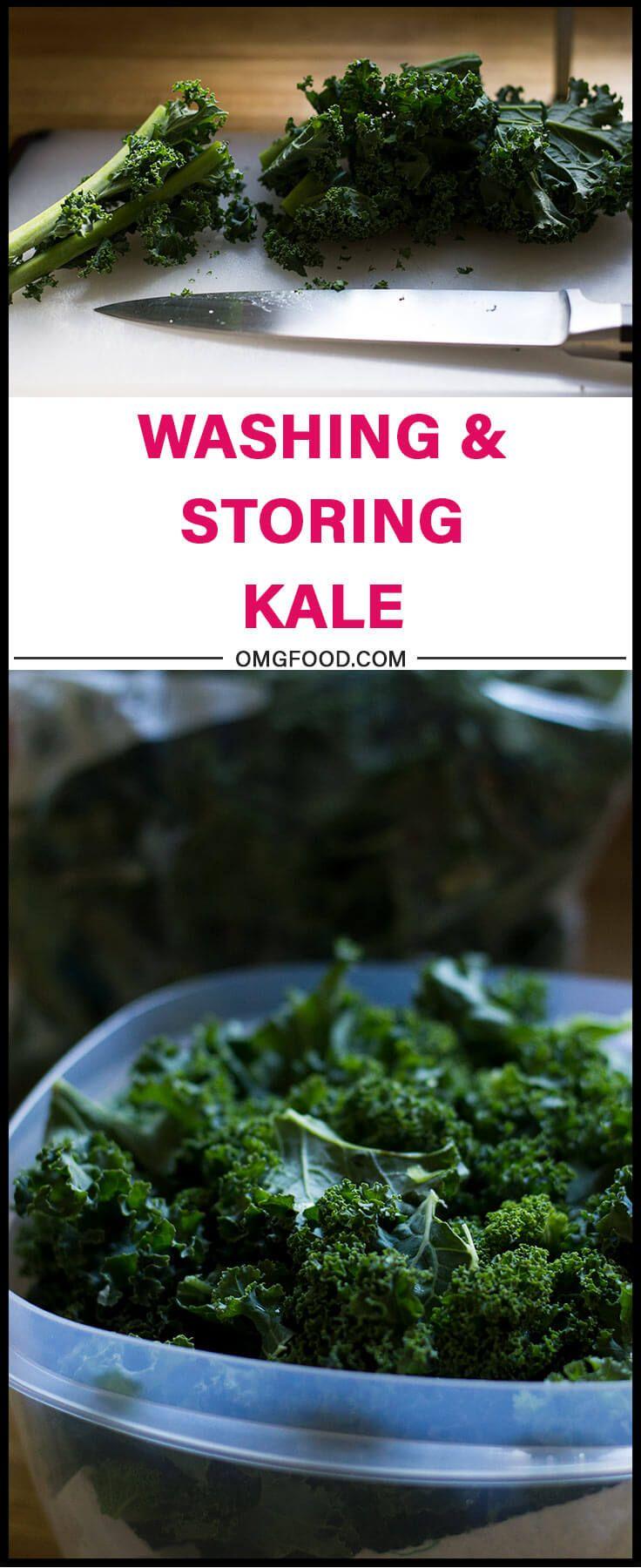Food prep washing and storing kale food meal prep