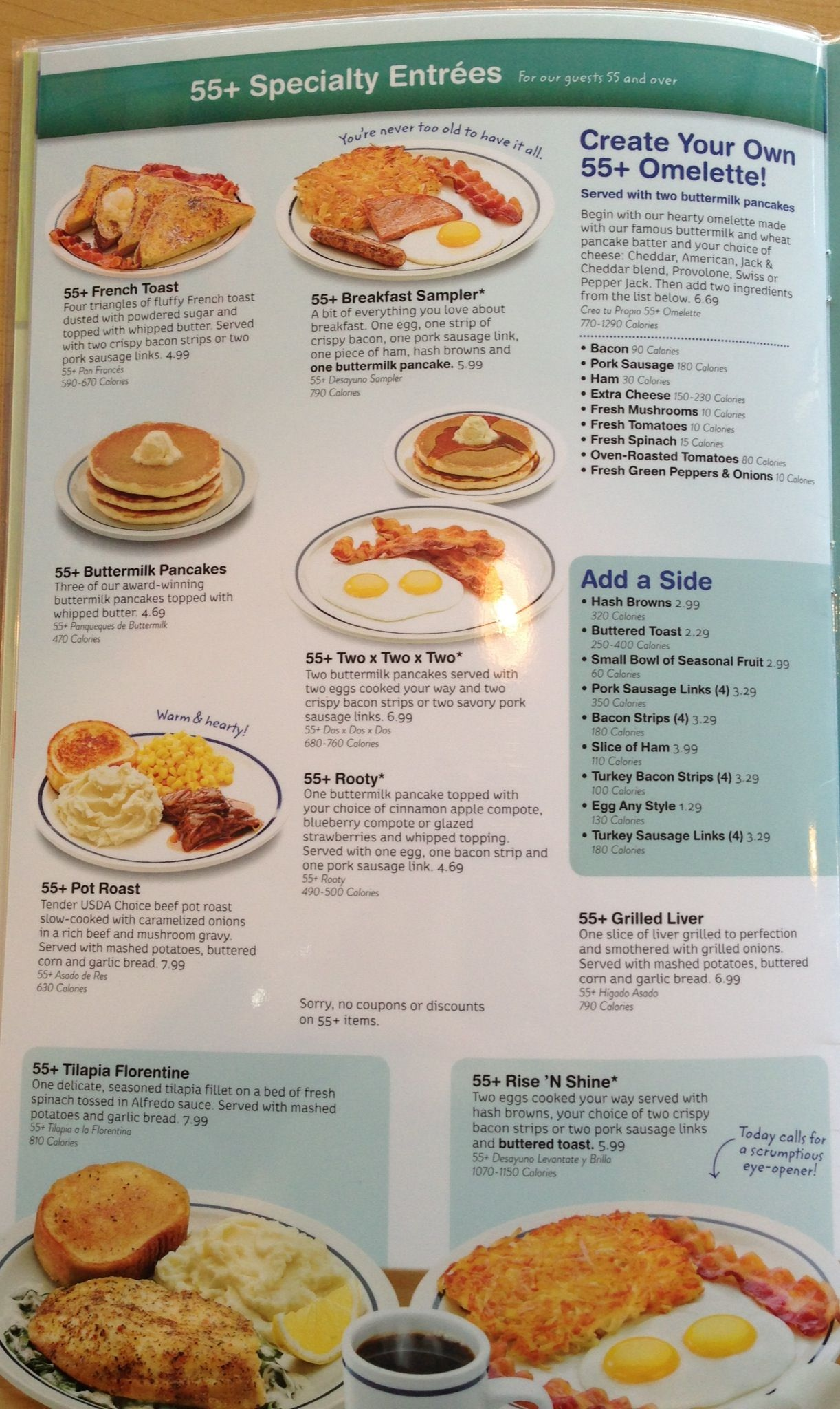 breakfast with the kids at ihop i'm really tripping over their 55