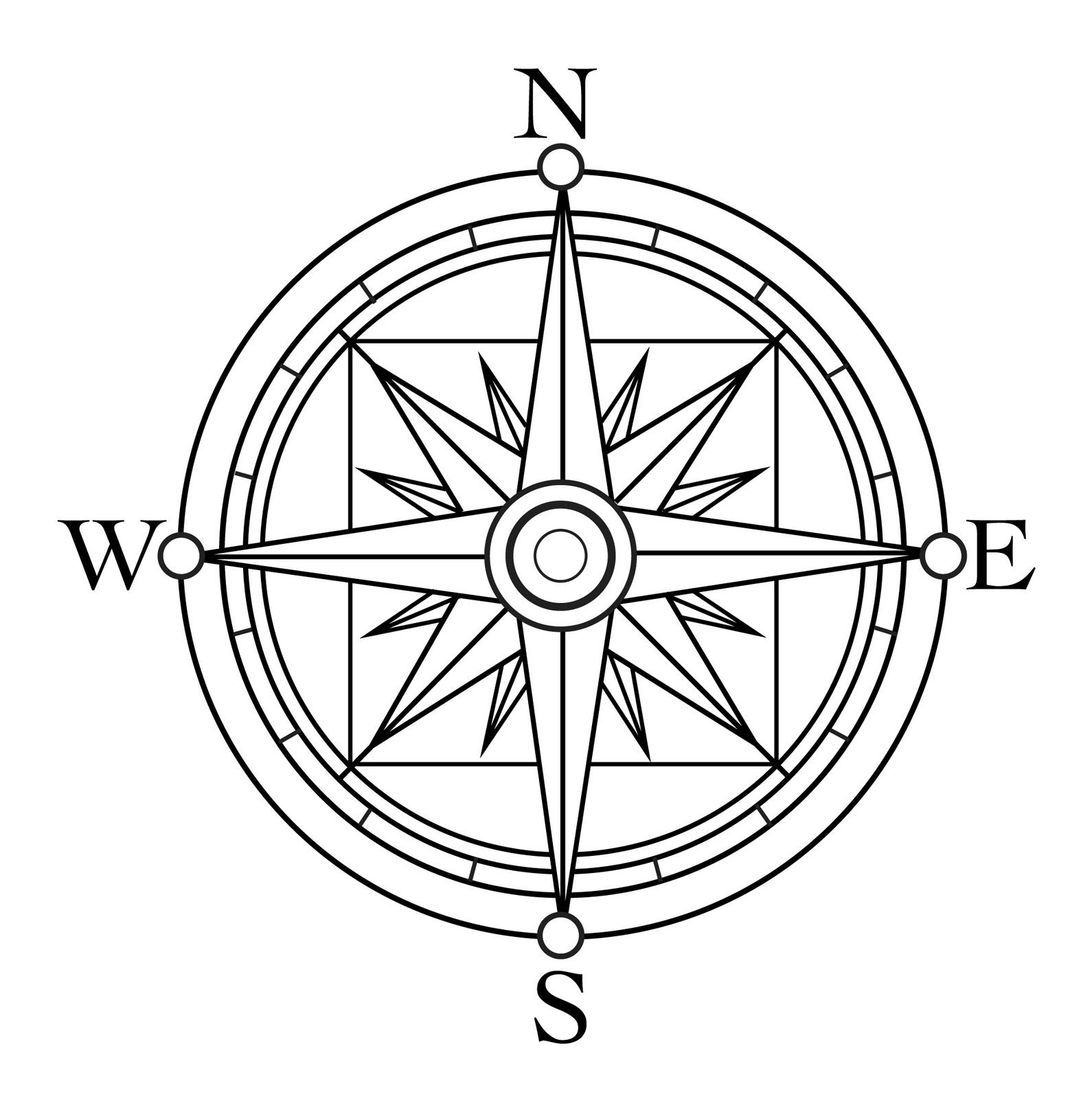 Compass Rose Coloring Page Viewing Gallery 164208