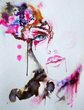 Saatchi Art Artist Anna Sidi Yacoub Painting Venetian Mask