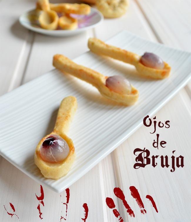 Ojos de Bruja en cuchara crujiente de parmesano en 2018   Halloween ...